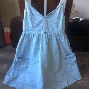 TOPSHOP denim material dress